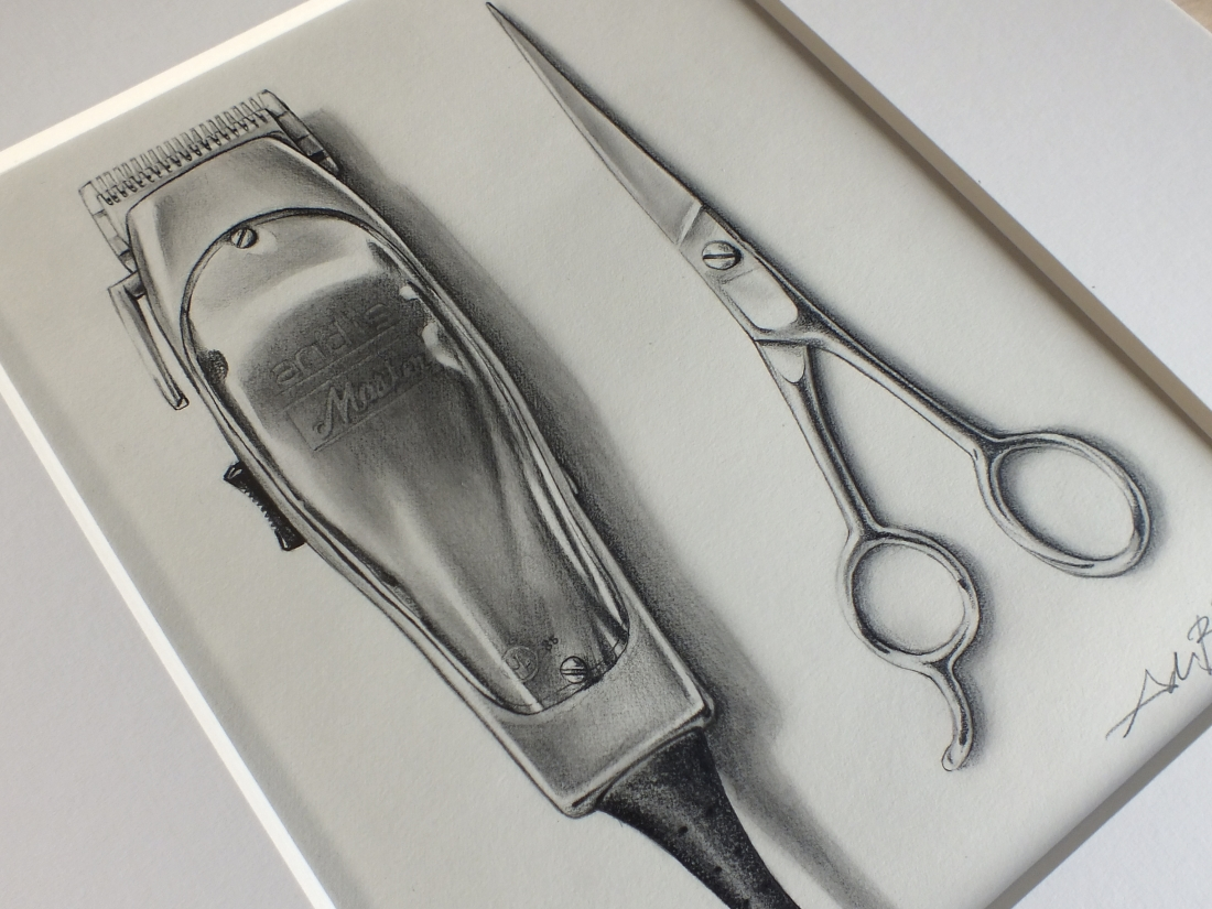 Barber Clippers Drawing | HAIRSTYLE GALLERY